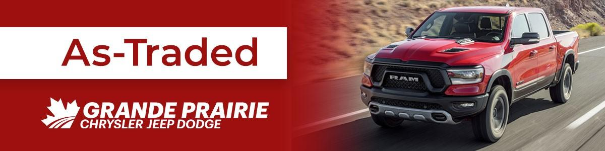 AS TRADED Vehicles at Grande Prairie Chrysler Jeep Dodge Ram