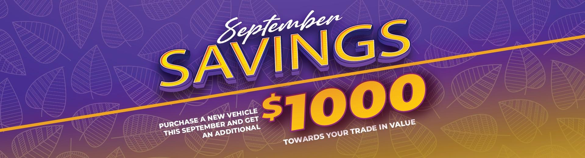 September Savings at Grande Prairie Chrysler Jeep Dodge in 11448 Westgate Drive